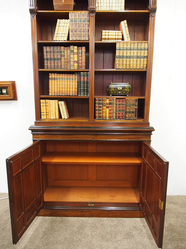 Arts and Crafts Mahogany Open Bookcase by W. Walke-georgian-antiques-P1250867-main-636613793854570519.JPG
