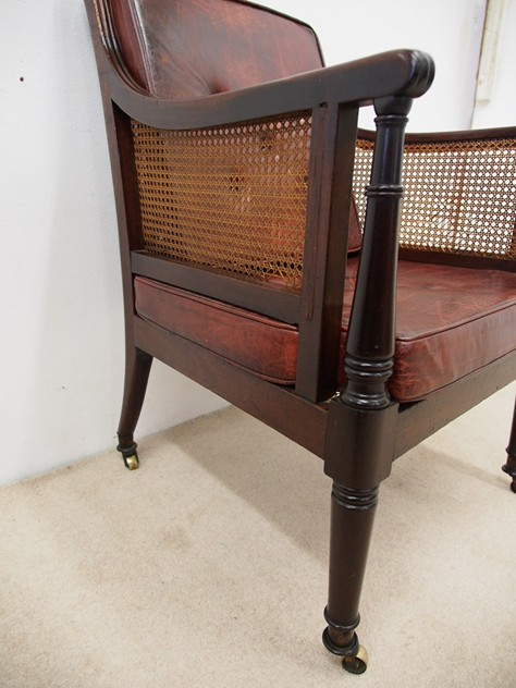 Scottish Regency Mahogany Bergere or Library Chair-georgian-antiques-P5030589_main_636364987320726447.JPG