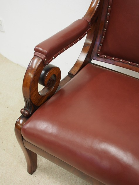 William IV Mahogany and Inlaid Library Chair-georgian-antiques-P8033257_main_636396109550454919.JPG