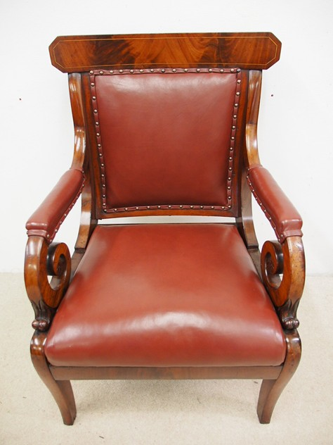 William IV Mahogany and Inlaid Library Chair-georgian-antiques-P8033258_main_636396109620190495.JPG