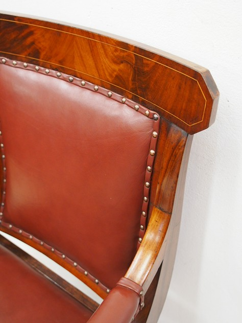 William IV Mahogany and Inlaid Library Chair-georgian-antiques-P8033261_main_636396109697258447.JPG