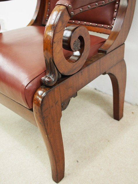 William IV Mahogany and Inlaid Library Chair-georgian-antiques-P8033263_main_636396109778694623.JPG