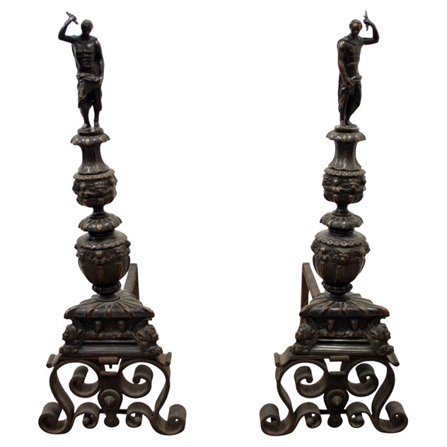 Pair of Monumental Bronze and Steel Fire Dogs-georgian-antiques-Pair-of-Fire-Dogs-(2)_main.jpg