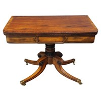 Regency Mahogany and Rosewood Games Table