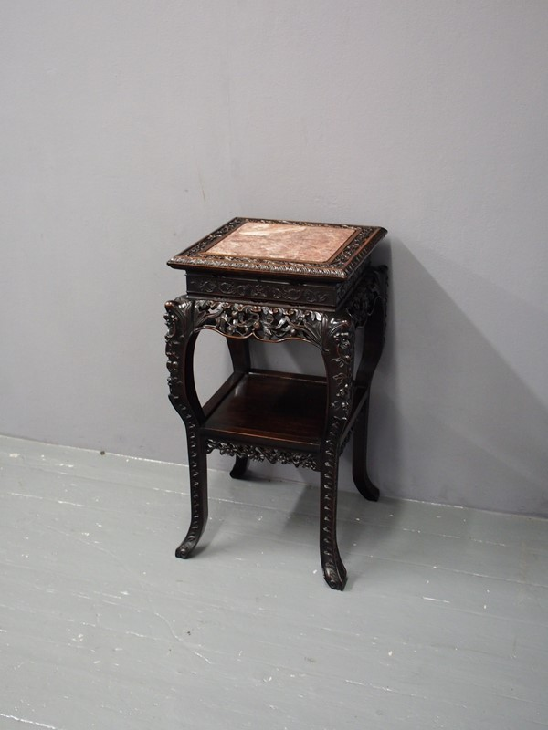 Chinese Carved Hardwood and Marble Plant Stand-georgian-antiques-p1010411-main-637012966365162335.JPG