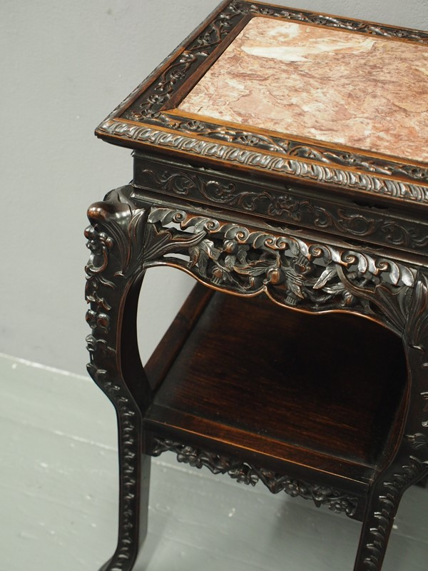 Chinese Carved Hardwood and Marble Plant Stand-georgian-antiques-p1010419-main-637012966447968725.JPG