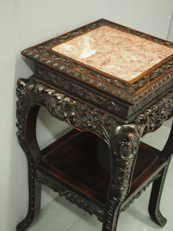Chinese Carved Hardwood and Marble Plant Stand-georgian-antiques-p1010420-main-637012966489530295.JPG