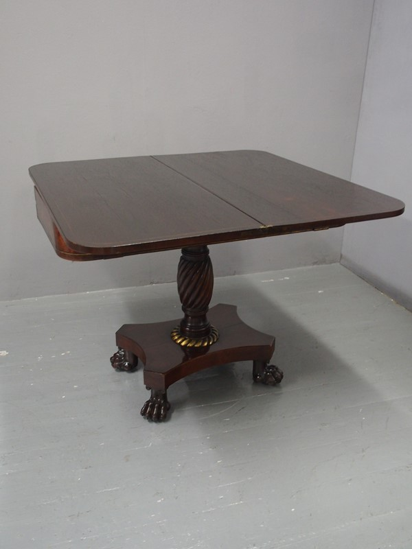 Regency Rosewood and Brass Inlaid Foldover Table-georgian-antiques-p1017967-main-637090736740088185.JPG