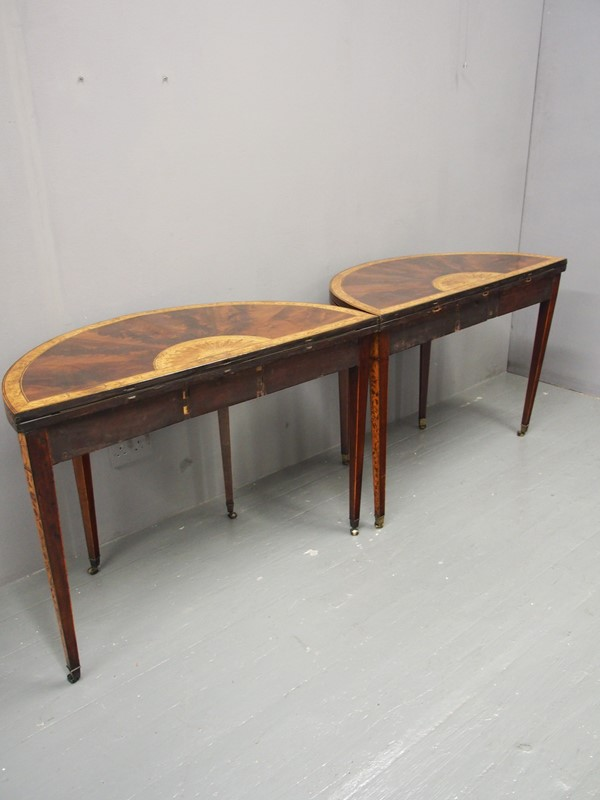Pair of George III Mahogany Inlaid and Penwork Gam-georgian-antiques-p1018029-main-637102825220520141.JPG