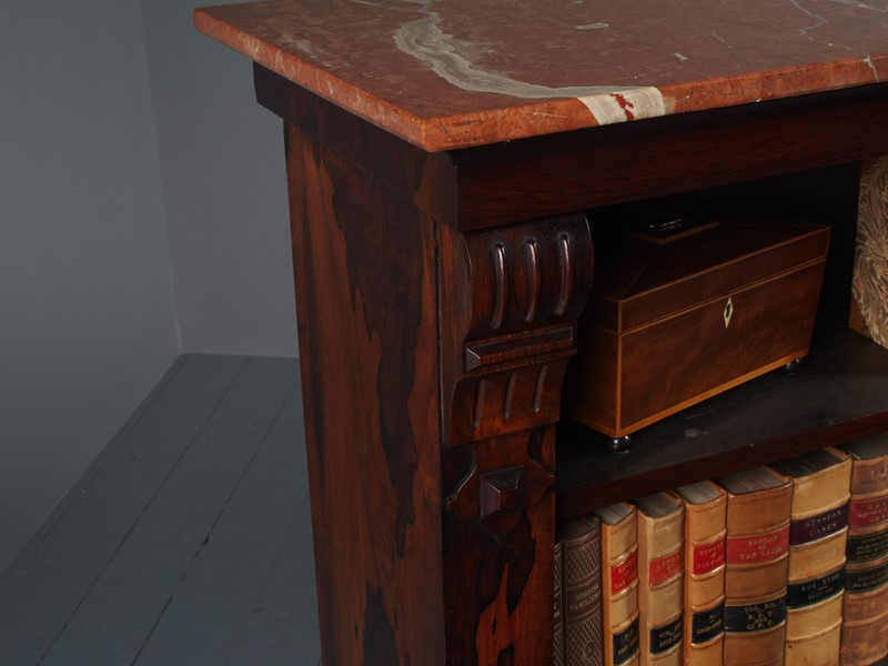 William IV Rosewood and Pink Marble Bookcase-georgian-antiques-p1125779-main-637473670987327517.JPG