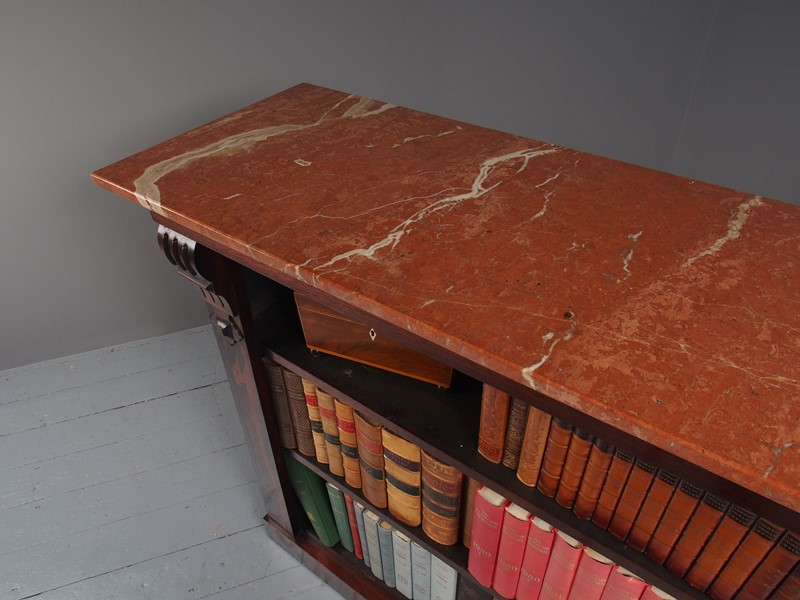 William IV Rosewood and Pink Marble Bookcase-georgian-antiques-p1125787-main-637473671016077931.JPG