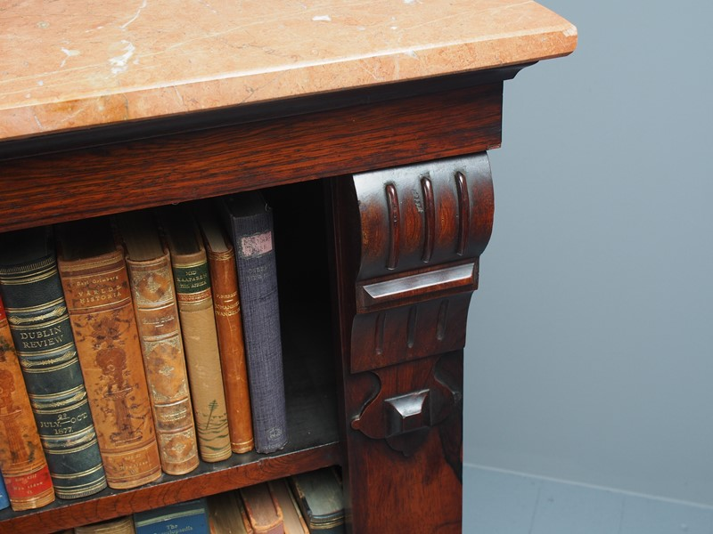 William IV Rosewood and Pink Marble Bookcase-georgian-antiques-p1125789-main-637473671030609250.JPG