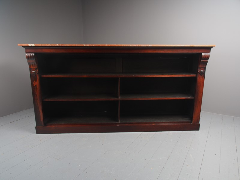 William IV Rosewood and Pink Marble Bookcase-georgian-antiques-p1125793-main-637473671058578532.JPG