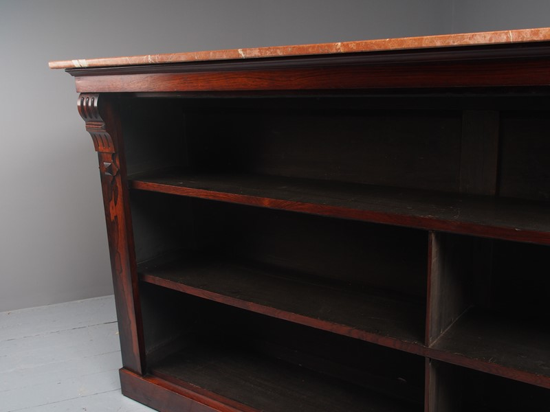 William IV Rosewood and Pink Marble Bookcase-georgian-antiques-p1125796-main-637473671072016255.JPG