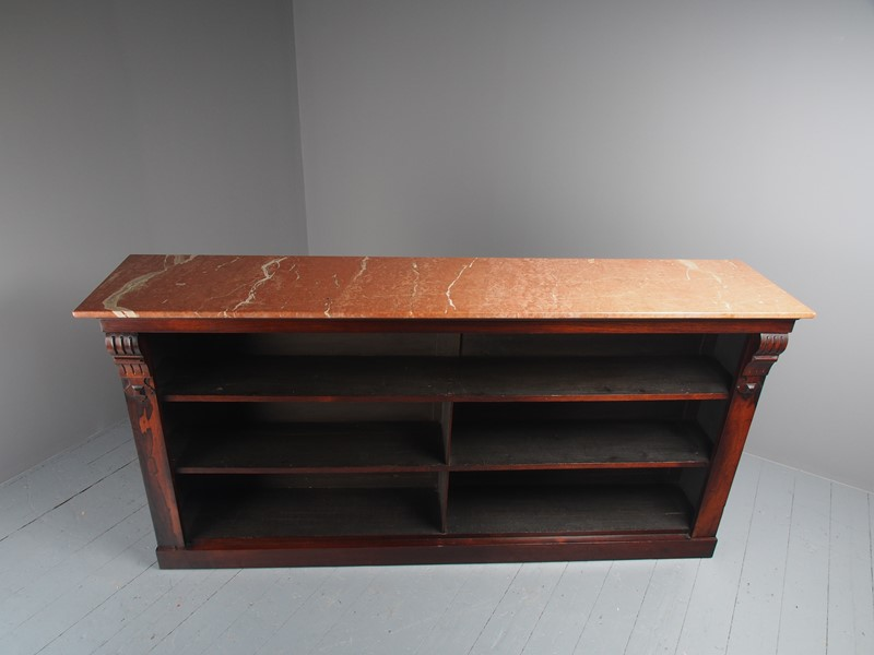 William IV Rosewood and Pink Marble Bookcase-georgian-antiques-p1125799-main-637473671098422849.JPG