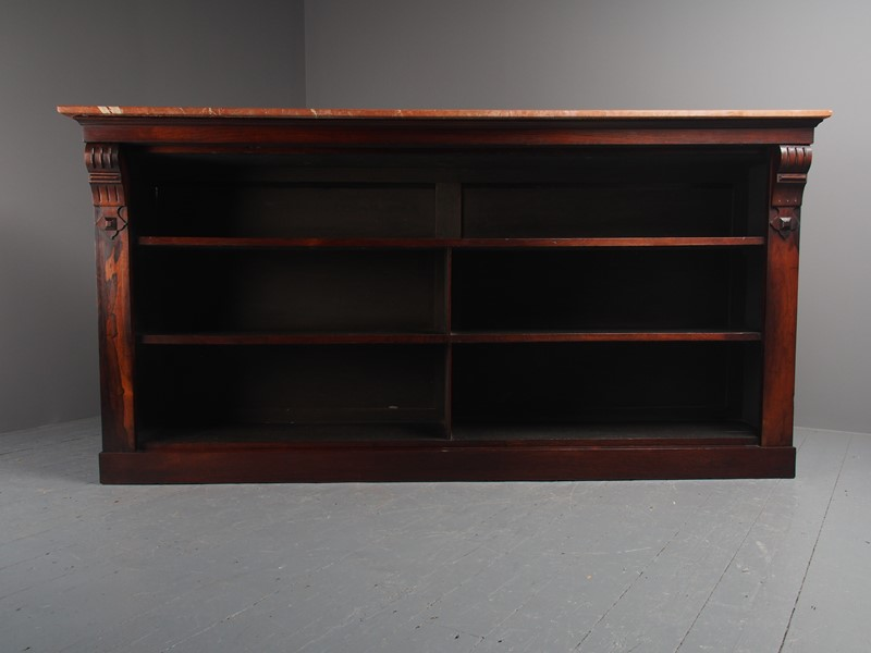William IV Rosewood and Pink Marble Bookcase-georgian-antiques-p1125800-main-637473671111861060.JPG
