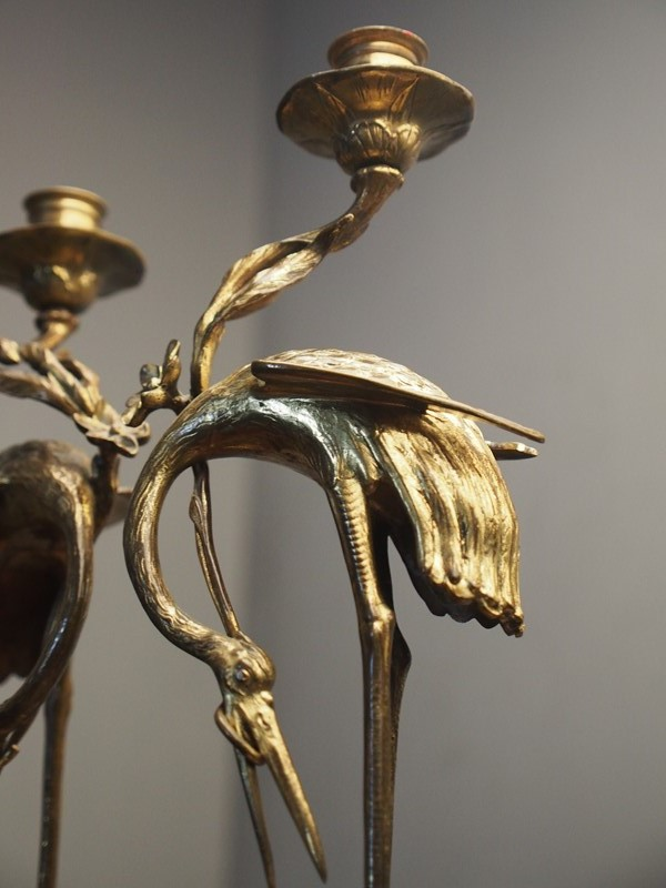 Pair of Chinese Gilded Brass Crane Candlesticks-georgian-antiques-p4040165-main-637298173665847100.JPG