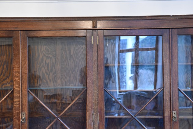 18 FOOT WIDE OAK DISPLAY CABINET-haes-antiques-18 FT WIDE HOS CABINET (1) FM_main_636459458110596843.JPG