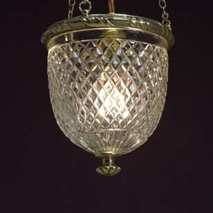 F&C Osler brass mounted hanging lamp
