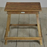 Antique Hand Loom Centre Pine Stool