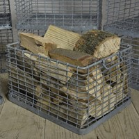 Vintage Wirework Baskets - Log Storage