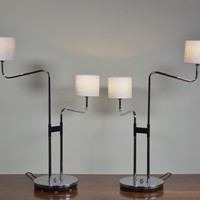 Rare Pair Table Lamps by Durlston Designs
