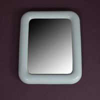 Oblong Porcelain Bathroom Mirror