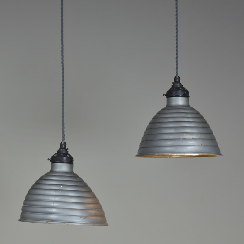Pair Beehive Silvered / Mirrored Pendant Shades-haes-antiques-dsc-5752cr-fm-main-636958727861172982.jpg