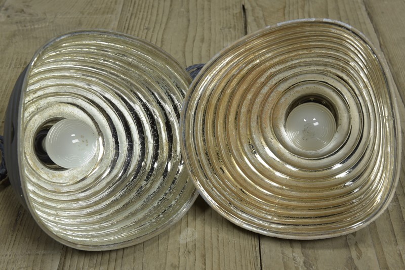Pair Beehive Silvered / Mirrored Pendant Shades-haes-antiques-dsc-5763cr-fm-main-636958728252420051.jpg