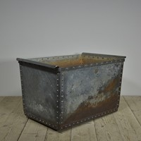 "Antique Iron Riveted ""Quencher"" Tank / Log Bin"