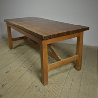 Antique Pine & Iroko Table