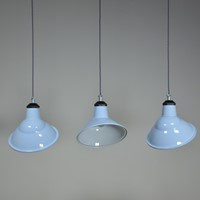Parabolic Enamel Lights in Blue