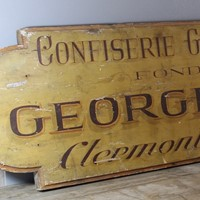 French Confectioner Sign