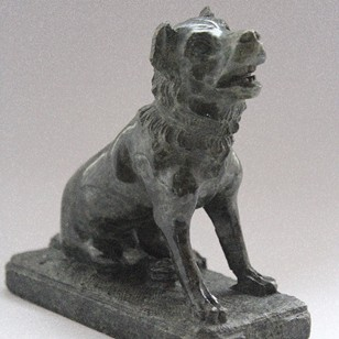 Carved Serpentine Grand Tour 'Dog of Alcibiades'