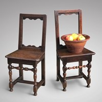 Two 18th Century Oak Lorraine Chairs