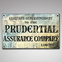 19th Century Insurance Company Brass Name Plate