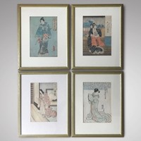 Set of 19th Century Japanese Woodblock  Prints