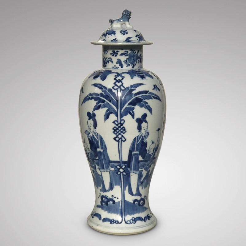 19th Century Chinese Blue & White Baluster Vase & -hobson-may-collection-img-5166-1-main-636862630711174354.jpg