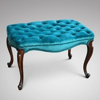 Victorian Rosewood Serpentine Foot Stool