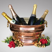 19th Century French Copper Wine Cooler