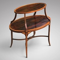 Edwardian Mahogany Etagere with Satinwood Banding