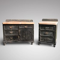 Two Unrestored Victorian Painted Chests