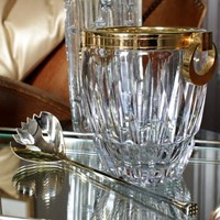 Stunning French Crystal Ice Bucket