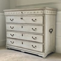 Large Painted Gustavian Chest