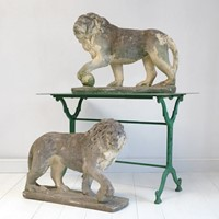 A Pair of English Stone Lions