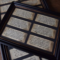Six Framed Tibetan Prayer Manuscripts Circa 1700