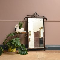 Large 19th Century Bamboo Framed Mirror