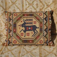 Large hand woven Swedish tapestry cushion