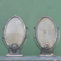 A pair of Art Deco photo frames by WMF