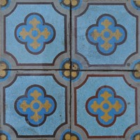 Gothic encaustic floor tiles